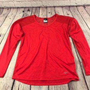 Nike Dri-Fit Women Long Sleeve Shirt Size XS
